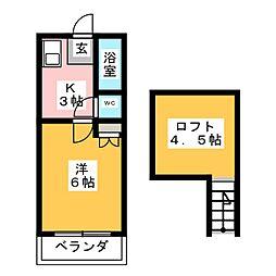 コーポラス・セレクション[1階]の間取り