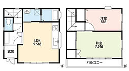 JUNエリールA・B[B305号室]の間取り