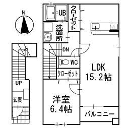 フェリーチェ・I 2階[202号室]の間取り