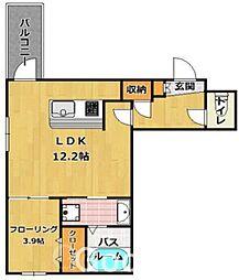 スカイガーデン 別府[1階]の間取り