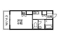 YNT第2マンション[306号室]の間取り