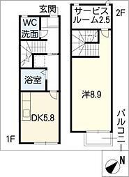 [タウンハウス] 愛知県長久手市桜作 の賃貸【/】の間取り