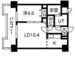 UURコート札幌北三条[4階]の間取り