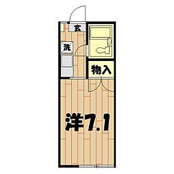 カルム鶴ヶ峰[202号室]の間取り