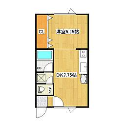フィールドハウスII[1階]の間取り