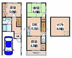 [一戸建] 大阪府東大阪市西堤1丁目 の賃貸【/】の間取り