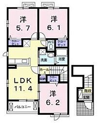 コンチェルト[2階]の間取り