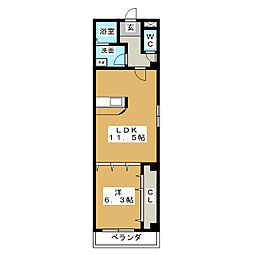 アクアフォレスト[5階]の間取り