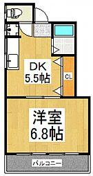 第2フジヤ荘[2階]の間取り