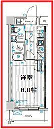 フュージョナル東墨田 1階1Kの間取り