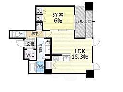 北大阪急行電鉄 千里中央駅 徒歩1分の賃貸マンション 39階1LDKの間取り