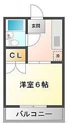 エステートピア高島[1階]の間取り