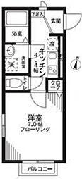東京都練馬区氷川台3丁目の賃貸アパートの間取り