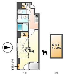 casa luca(カーサルカ)[9階]の間取り