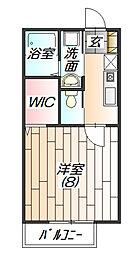 兵庫県三田市西山1丁目の賃貸アパートの間取り