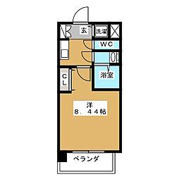 レジディア京都駅前[4階]の間取り