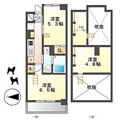 エステムコート名古屋駅前CORE[12階]の間取り