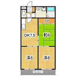 ハウスオブローゼ3[105号室]の間取り