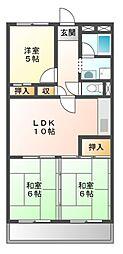 アラコハイツ[2階]の間取り