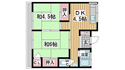 松村文化[1F-N号室]の間取り