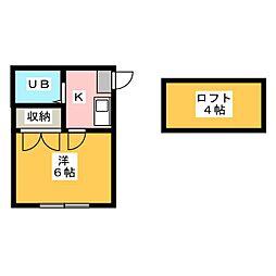 パレス笠寺[1階]の間取り