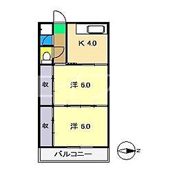 杉村マンション[3階]の間取り