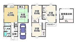 JR片町線(学研都市線) 野崎駅 徒歩26分 4LDKの間取り