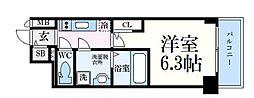 JR東海道・山陽本線 神戸駅 徒歩5分の賃貸マンション 11階1Kの間取り