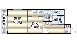 マリス神戸WING[506号室]の間取り
