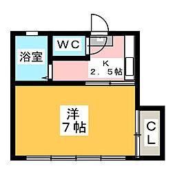 メゾン石名坂[1階]の間取り