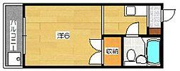 銀閣COZYハイツ[4階]の間取り