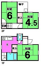 [一戸建] 東京都葛飾区鎌倉4丁目 の賃貸【/】の間取り