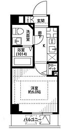 東京都葛飾区亀有3の賃貸マンションの間取り