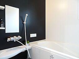 浴室建築施工例ゆったり寛げるシステムバスで毎日快適なバスタイム。