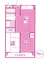 神奈川県川崎市多摩区宿河原4丁目の賃貸マンションの間取り