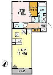 ソフィーユ・メゾン南福岡[1階]の間取り