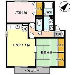 プリムローズIII C棟[102号室]の間取り