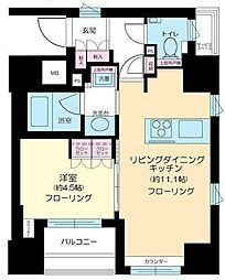 東京都中央区銀座8丁目の賃貸マンションの間取り