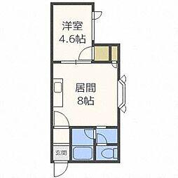 第10ベルハイム[2階]の間取り