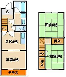 [タウンハウス] 兵庫県明石市小久保4丁目 の賃貸【/】の間取り