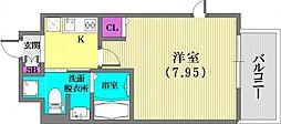 プロシード兵庫駅前通[1101号室]の間取り