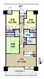 古江パークホームズ[5階]の間取り