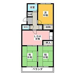 岡嶋グリーンハイツ[2階]の間取り