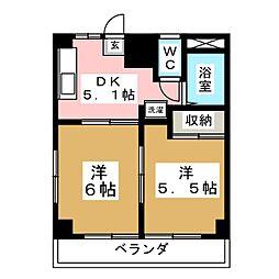 加納ビル[3階]の間取り