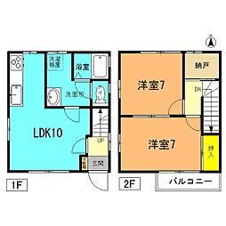 [一戸建] 神奈川県平塚市西八幡3丁目 の賃貸【/】の間取り