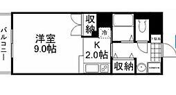 岡山県岡山市北区東古松4丁目の賃貸マンションの間取り