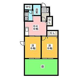 グレーヌII[1階]の間取り
