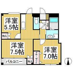 長野県東御市本海野の賃貸アパートの間取り