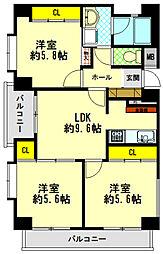 ワコーレ甲子園口II[2階]の間取り