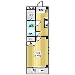 愛知県名古屋市中川区かの里2丁目の賃貸アパートの間取り